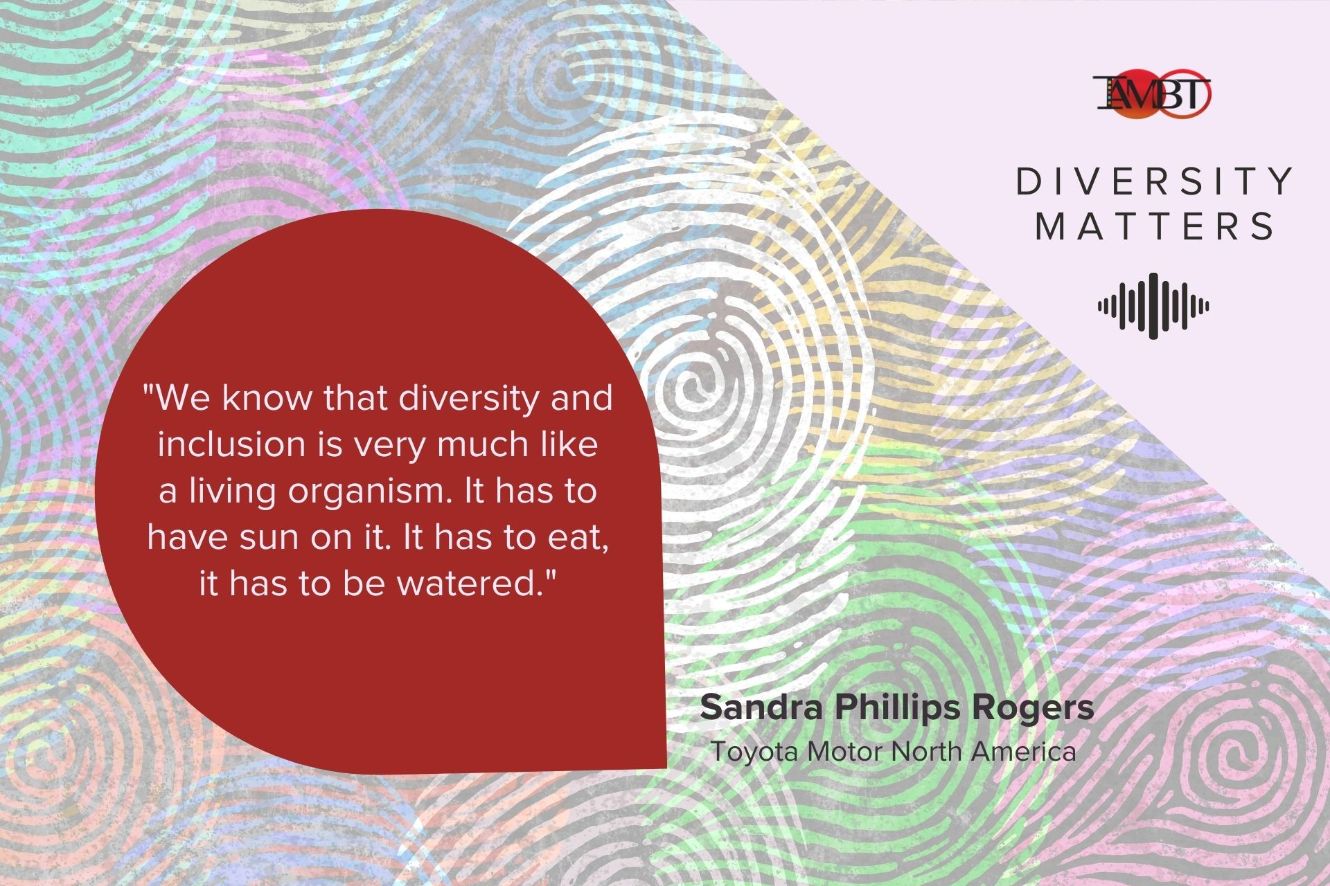 Diversity Matters, Sandra Phillips Rogers Quote
